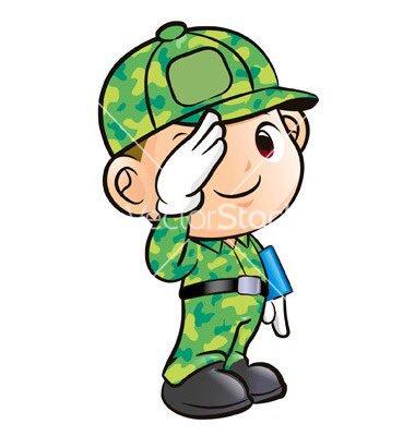 Soldier clipart cute #110 Clipart salute clipart Salute