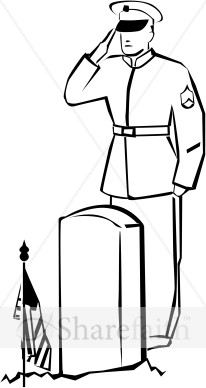 Soldier clipart drawn Fallen  Saluting Memorial Day