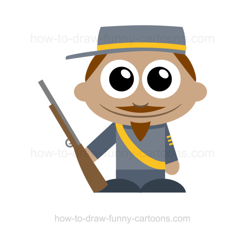 Soldier clipart drawn Confederate Soldier How Draw Soldier