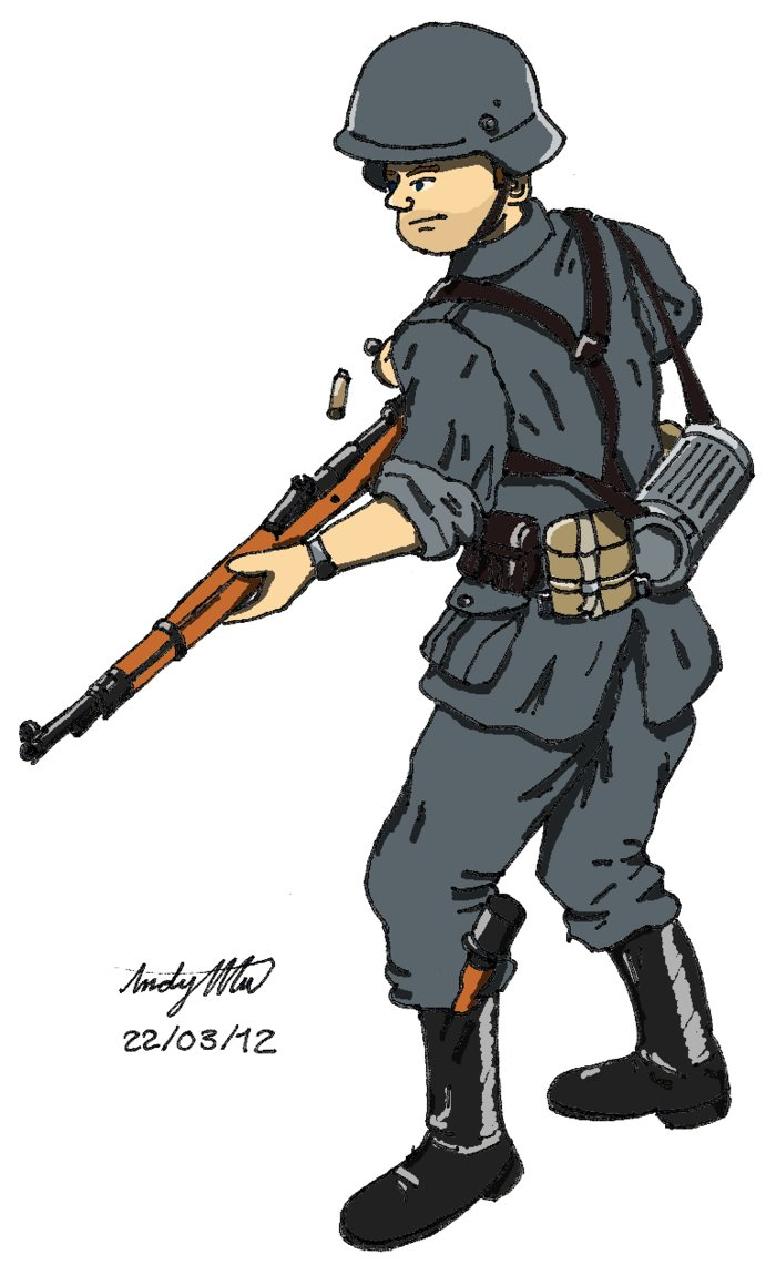 Soldier clipart drawn NDTwoFives DeviantArt on WWII Soldier