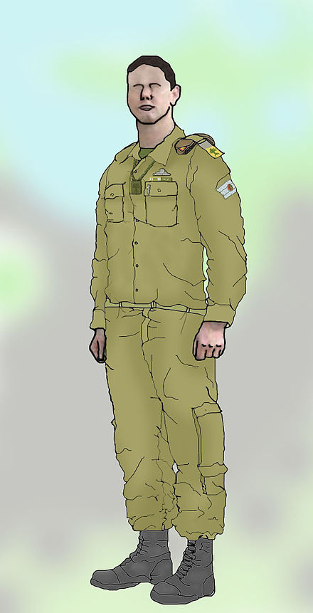 Soldiers clipart dress Soldier medic Golani Israel dress