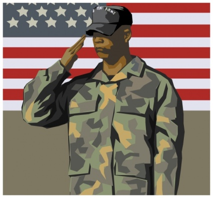 Soldier clipart dress Officer Army 568 Salute Army
