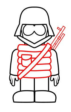Army clipart sketch Soldier cartoon Draw How Drawing