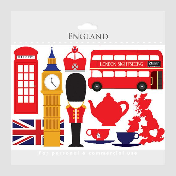 Telephone Booth clipart london double decker bus On art tea images UK