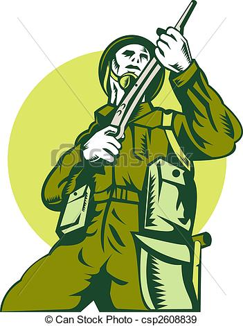 Soldier clipart english soldier Rifle of Soldier british illustration