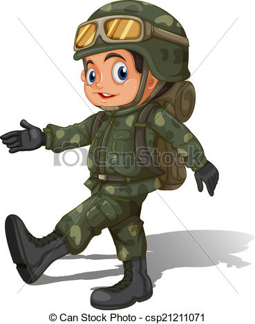 Soldier clipart graphic A young young csp21211071 young