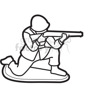Soldier clipart scared Royalty white black illustration graphic