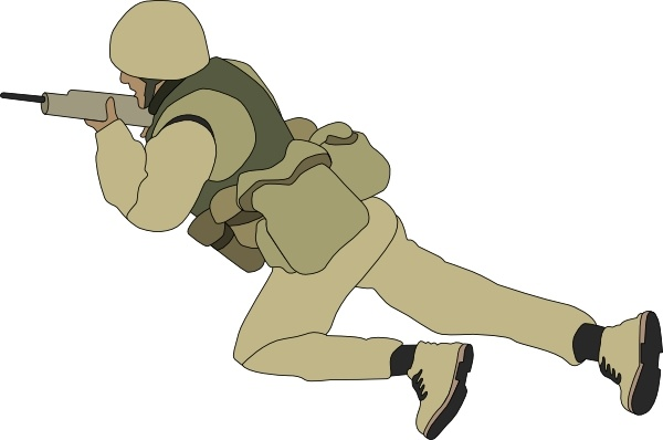 Soldier clipart graphic Crawling drawing Soldier art Free