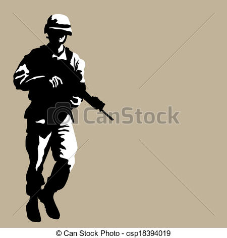 Soldier clipart graphic Armed armed Soldier Vector Soldier