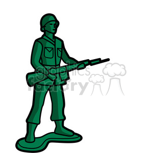 Soldier clipart graphic Green graphic toy soldier green
