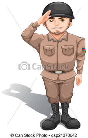 Soldiers clipart brave soldier Doing illustrations 229 Salute A