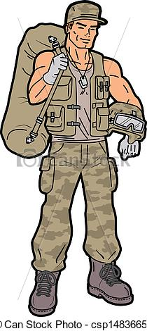 Soldier clipart illustration American Clipart Handsome of Soldier