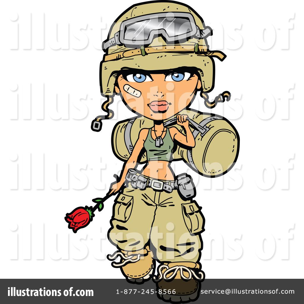 Soldier clipart illustration Art Illustration by Soldier Art