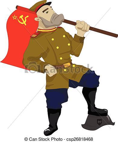 Soldier clipart illustration Soldier Soviet csp26818468 of Art