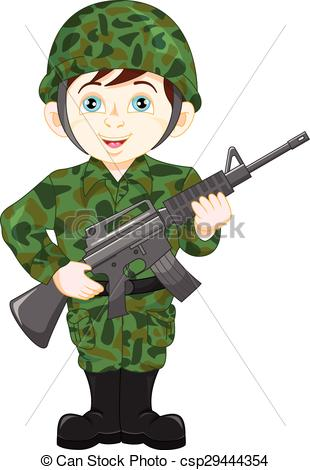Soldier clipart illustration Army  vector soldier Vector