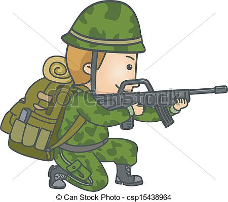 Soldiers clipart illustration A Armed  Illustration in