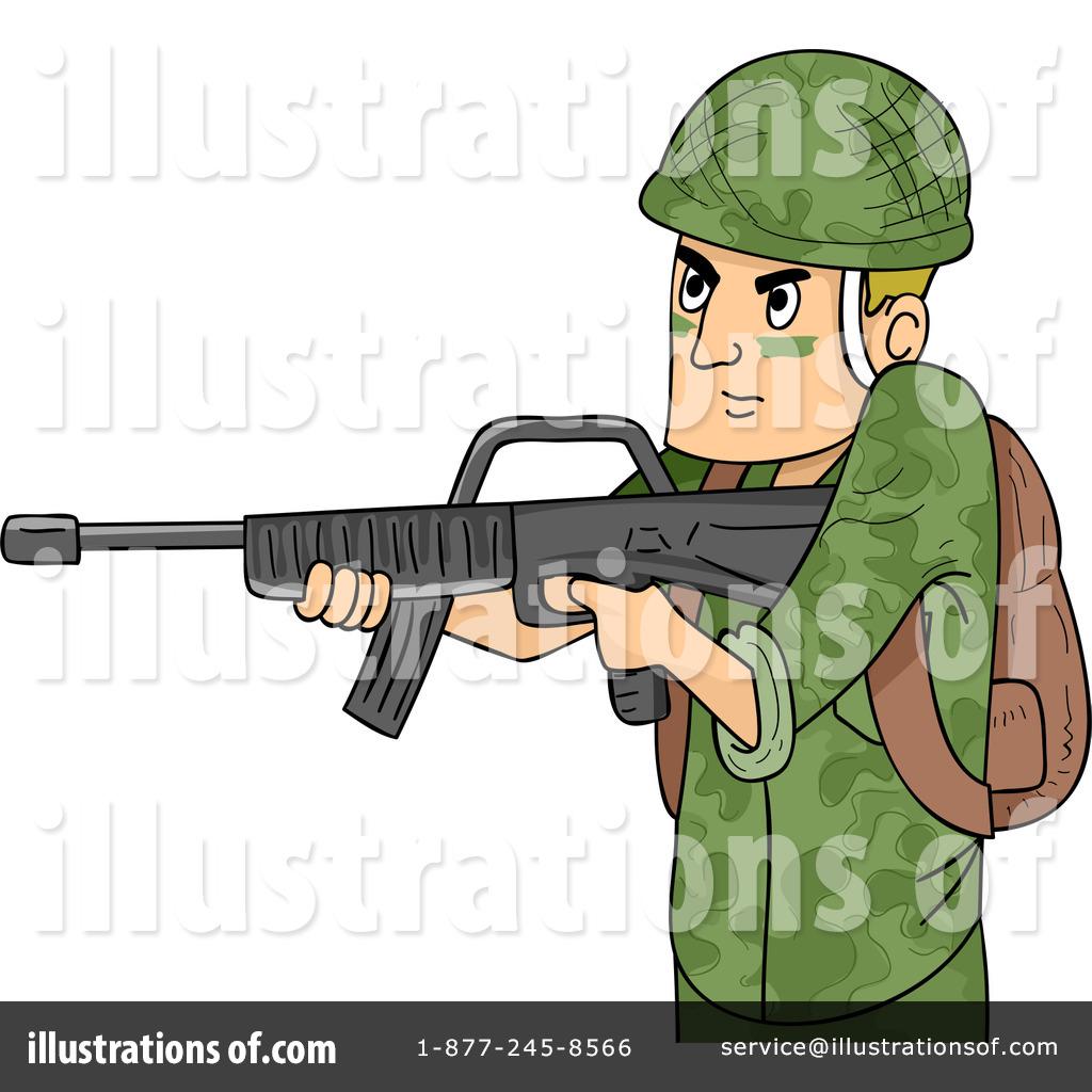 Soldier clipart illustration Design Illustration by Soldier Design