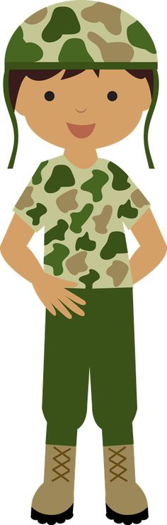 Army clipart christmas Saluting Art Clip Girl Saluting