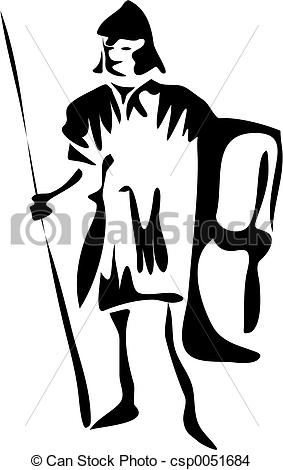 Soldier clipart line drawing Clip Drawing Roman funky line