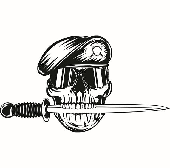 Drawn soldier skull logo Soldier SVG Weapon Vector Weapon