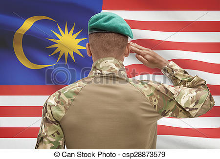 Soldier clipart malaysia Csp28873579 background Malaysia flag soldier