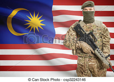 Soldier clipart malaysia Series on background holding background