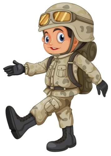 Soldier clipart occupation Kids jobs and flashcards for
