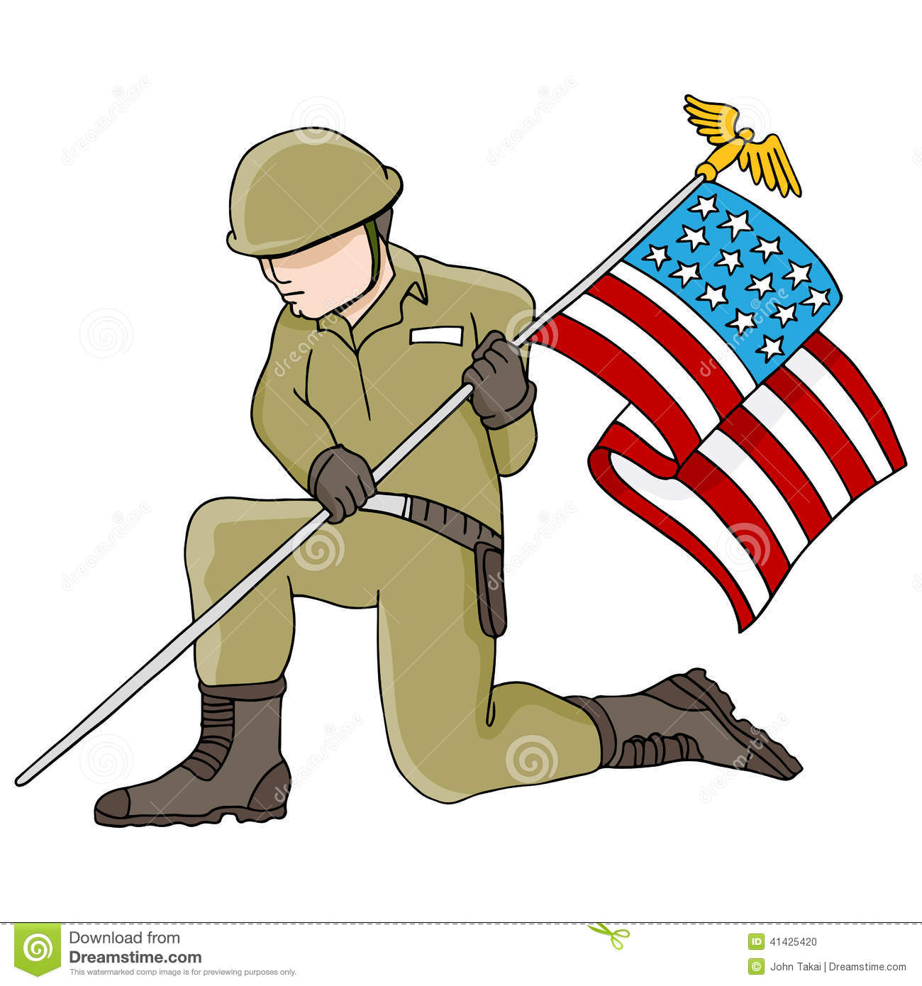 Soldier clipart sad American soldiers for flag Flag
