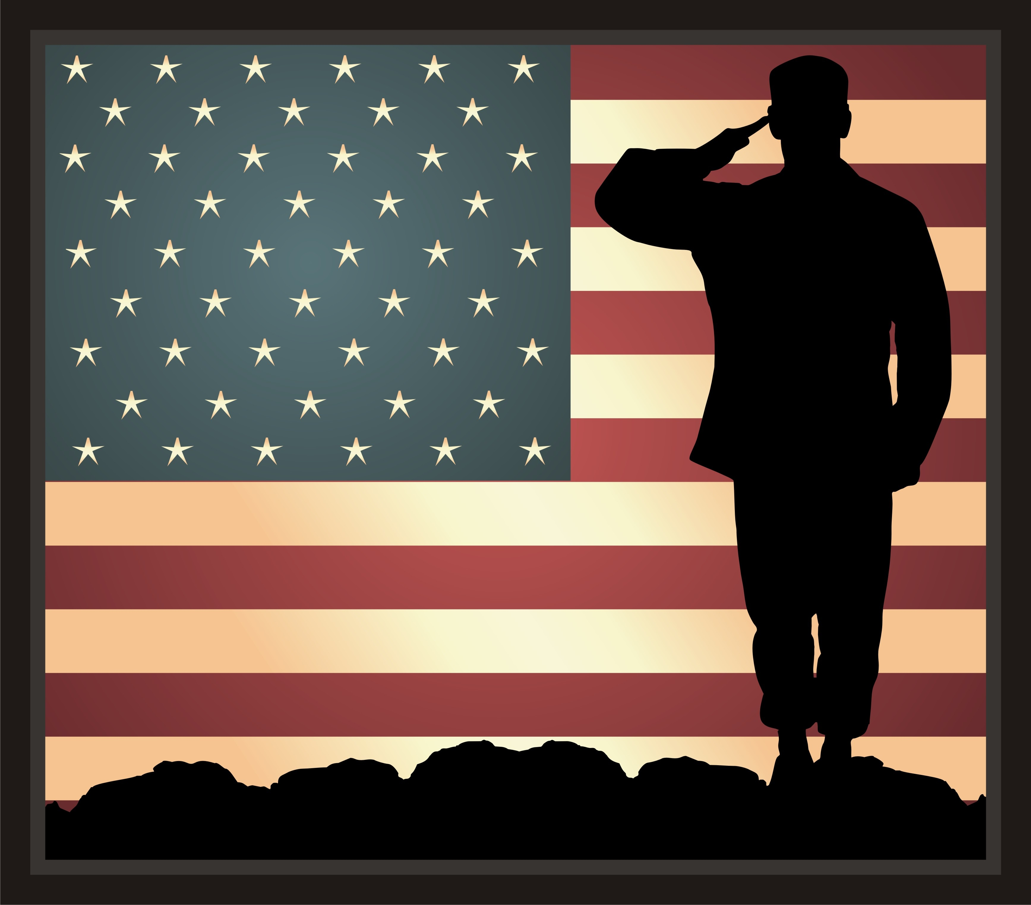 Soldiers clipart salute logo Art Download  Clipart Saluting
