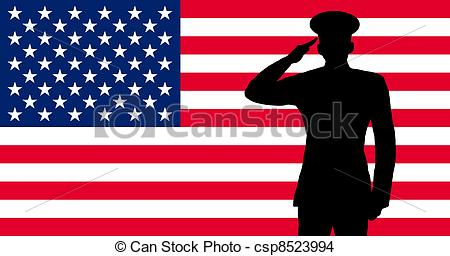 Soldiers clipart salute logo Of american an saluting soldier