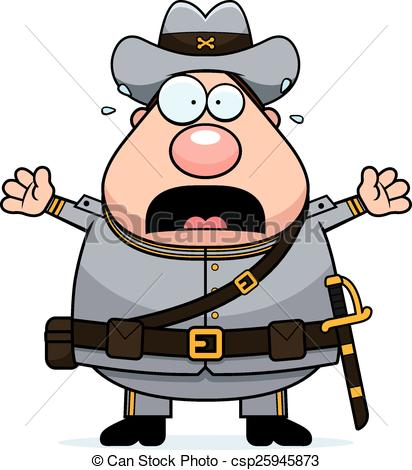 Soldier clipart scared Of Cartoon Scared Confederate Scared