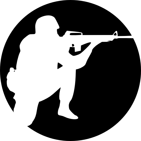 Soldiers clipart soldier shooting Circle Art as: Soldier Clker