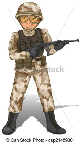 Soldier clipart spain  Art soldier a Clip