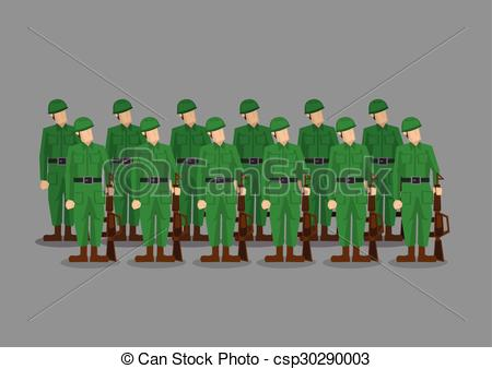 Soldier clipart troops Of Standing csp30290003 at Illustration