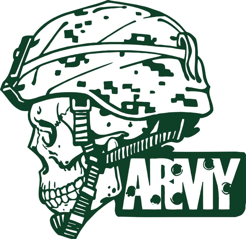 Skull clipart army Soldier Camo Skull Military Car