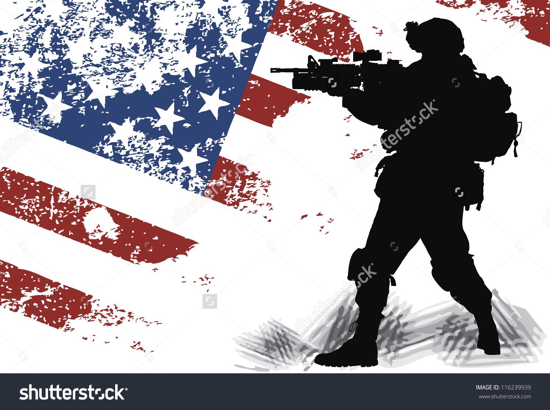 Soldier clipart us soldier Drapeau flag Collection us
