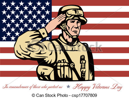 Soldier clipart veterans day Stock csp17707809 Card Day Day