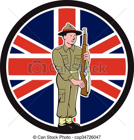 Soldier clipart ww2 art War Cartoon EPS Vector csp34726047