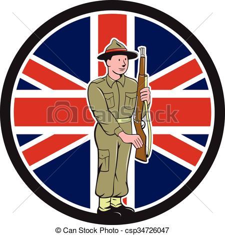 Soldier clipart ww2 art Flag War British Union Soldier