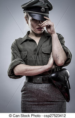 Soldier clipart ww2 art Nazi II woman csp27523412 beautiful