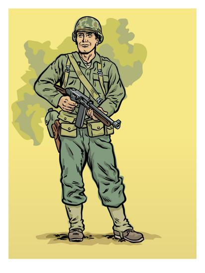 Soldier clipart ww2 art At Art Print com this