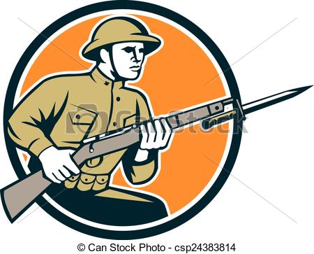 Soldiers clipart japan  One War Vector Art