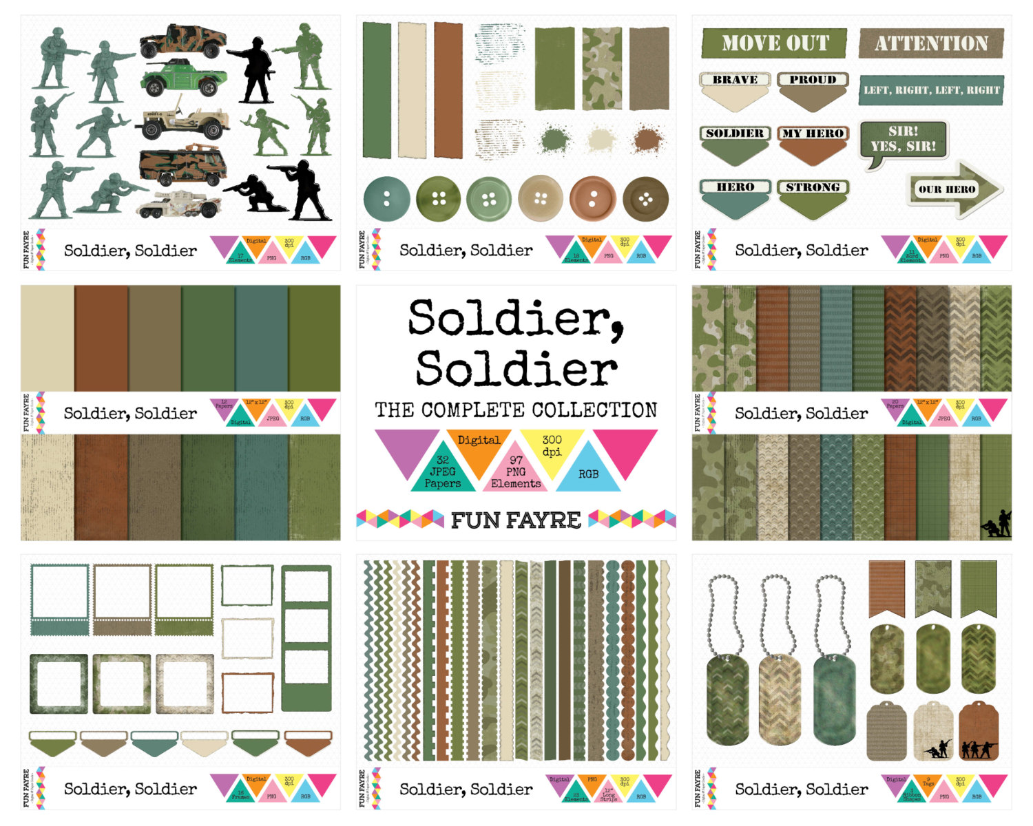 Soldier clipart yes sir & is 48 Set x