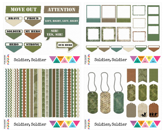 Soldiers clipart yes sir ARMY Brown Paper • $15