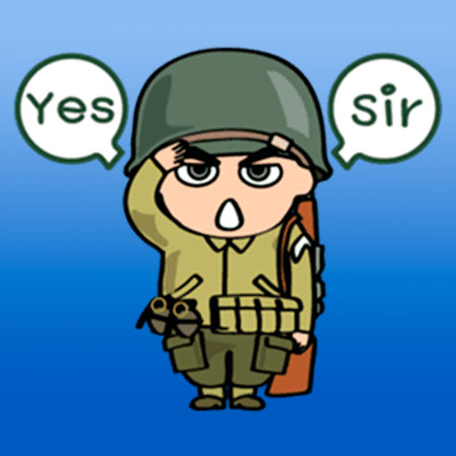 Soldier clipart yes sir Stickers! Soldier Abay Stickers! by