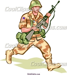 Soldiers clipart army man  in Art Clip camouflage