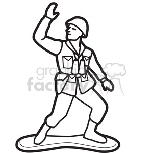 Soldiers clipart army man EPS graphic white PDF Royalty