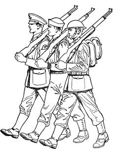 Soldiers clipart army marching Marching  Pages Day sheet