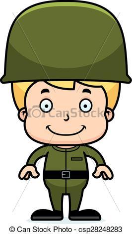 Soldier clipart cartoon Soldier Smiling Vector csp28248283 Cartoon