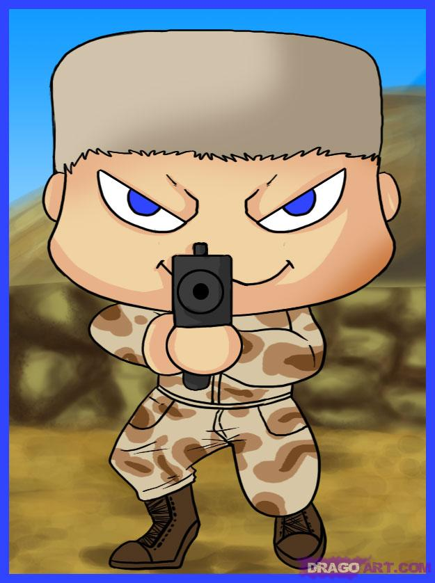 Soldier clipart drawn Chibi Soldier Chibi Chibi how